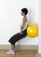 Thera-Band Pro Series bola del ejercicio pared Squat