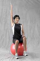 Thera-Band Pro Series Exercise Ball Sitting Arm & Leg