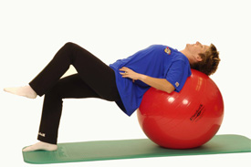 Exercise Ball Bridge Hip Lift Stabe