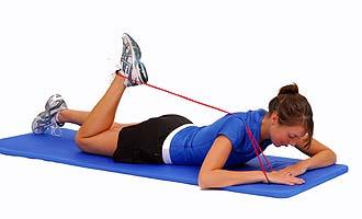 Thera-Band rodilla Lazo flexión estiramiento en zonas propensas a