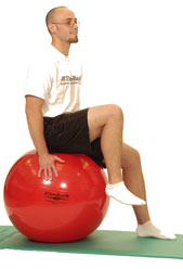 Pro Series Exercise Ball Sitting Hip Flexion