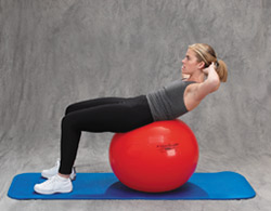 Thera-Band Pro Series Exercise Ball Abdominal Curl Up