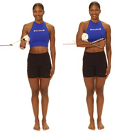 Thera-Band Shoulder Internal Rotation at 0 degrees
