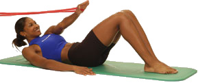 Thera-Band Abdominals Obliques (U) Supine