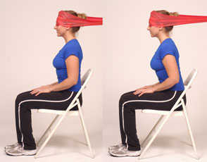 Thera-Band Cervical Flexion-Dynamic Isometric
