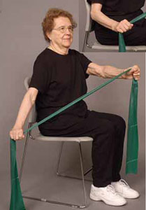 Thera-Band Elbow Extension (sitting) older