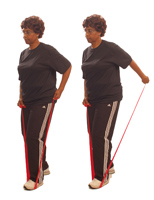 Thera-Band Elbow Extension (Kick Backs) in Standing
