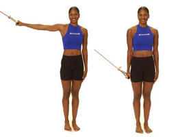 Thera-Band Shoulder Adduction