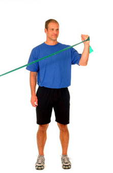 Thera-Band Shoulder External Rotation at 45