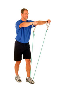 Thera-Band Shoulder Front Raise (Bilateral)