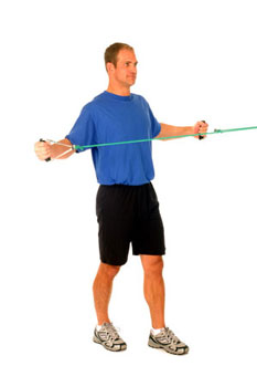 Thera-Band Shoulder Reverse Fly (standing)