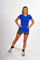Thera-Band Tubing with Cuffs Hip Abduction Kick