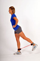 Thera-Band Tubing with Cuffs Hip Extension Kick