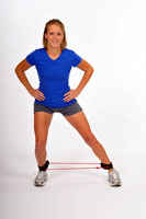 Thera-Band Tubing with Cuffs Lateral Lunge