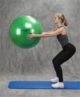 Thera-Band Exericse Ball Squat