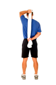 Shoulder Internal Rotation Towel Stretch
